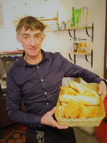 LFG2018 Pascal with breakfast breads at Chez Pascal
