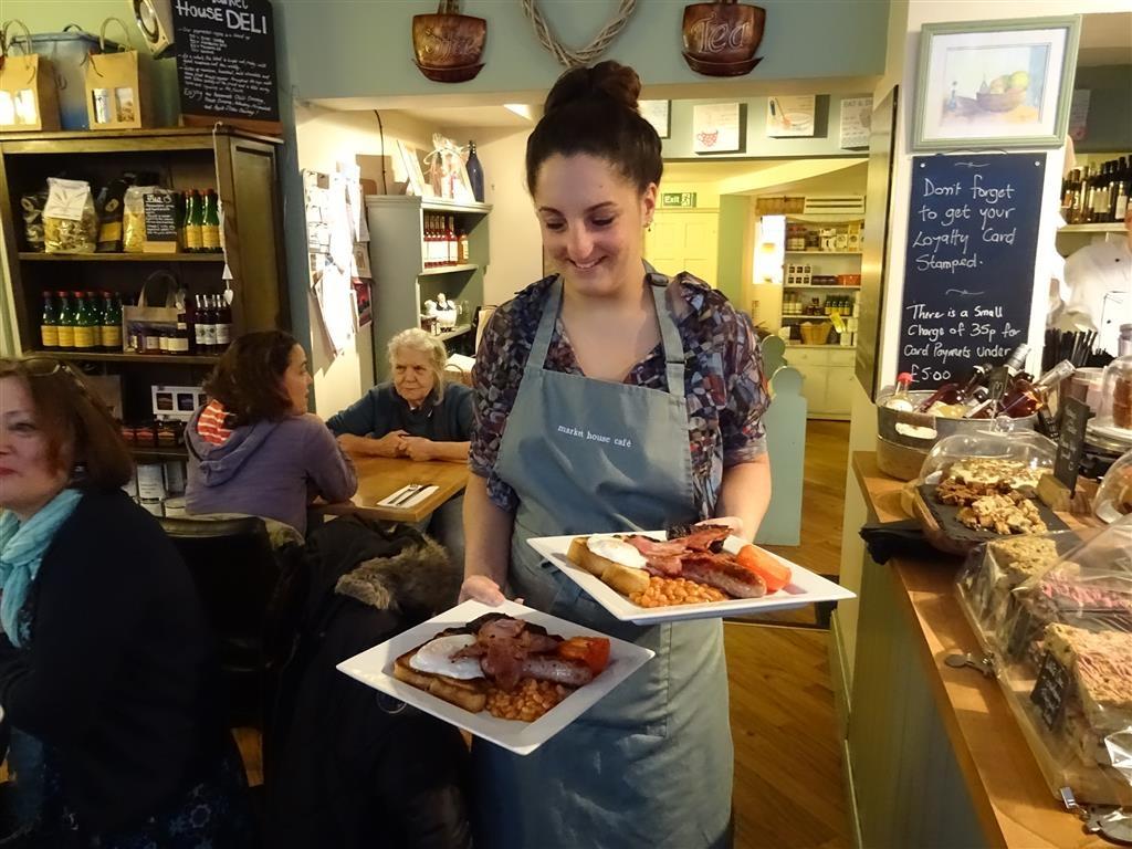 LFG Sophie at the Market House Cafe serves up breakfast