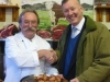 dave-waller-and-bill-wiggin-mp-admire-a-salver-of-local-breakfast-produce-ledbury-food-group