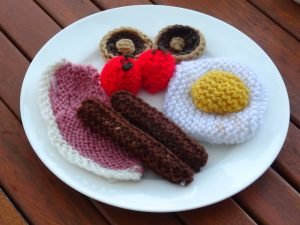 Knitted Breakfast at the Muse Cafe - Something that can't be eaten this weekend!