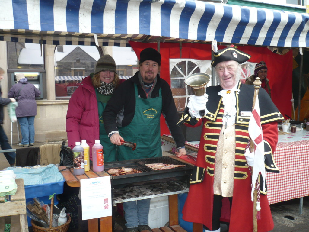 Bill the Bell with Pork and Two Veg on the market