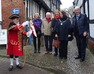 Bill greets Herefordshire Sheriff and Mayor
