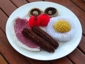 Knitted Breakfast at the Muse Cafe